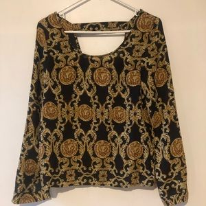Versace inspired blouse!